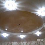 Двухуровневый потолок .Круг.