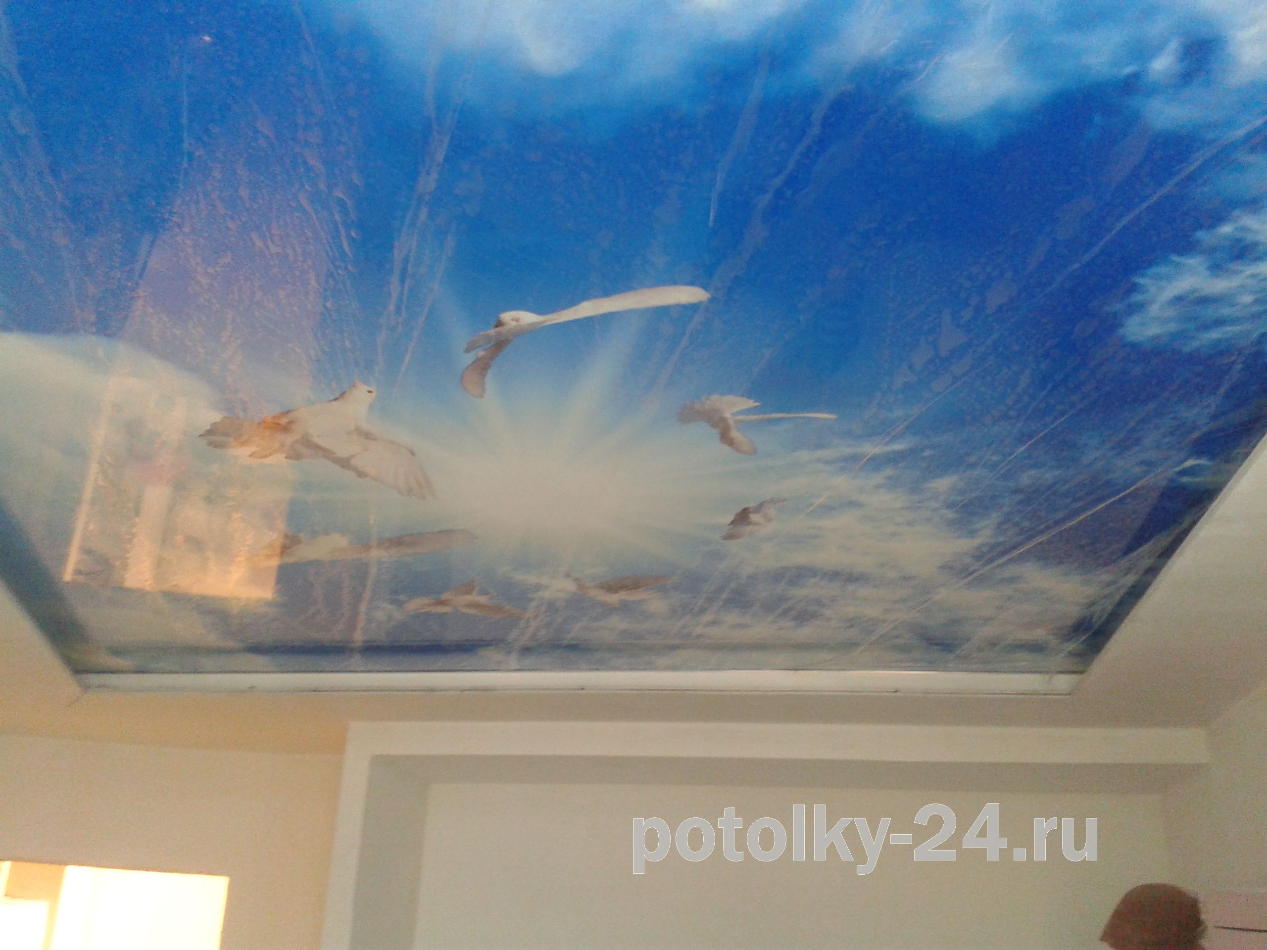 Рисунок на натяжном потолке